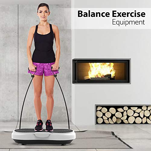 Hurtle Fitness Vibration Platform Workout Machine   Exercise Equipment For Home   Vibration Plate   Balance Your Weight Workout Equipment Includes, Remote Control & Balance Straps Included (HURVBTR30) by Hurtle (Image #7)