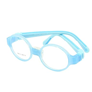7cdd6d13b43 Children Optical Glasses Size 38 with Nose Pad No Screw Bendable Kids Frame  Teens TR90 Silicone Safety Flexible (blue)  Amazon.co.uk  Clothing