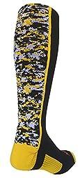TCK Digital Camo OTC Socks (Black/Gold, Small)