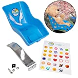 The Original Stuffed Animal and Doll Bicycle Seat- Bike Attachment Accessory for American Girl and All 18'-22' Dolls and Stuffed Animals- Decorate Yourself Decals Included (Blue)