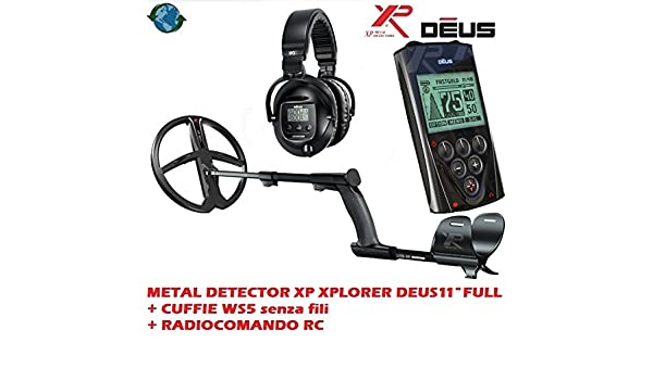 Metal detector XP Xplorer Deus 11 Full + auriculares WS5 sin hilos + Remoto RC: Amazon.es: Deportes y aire libre