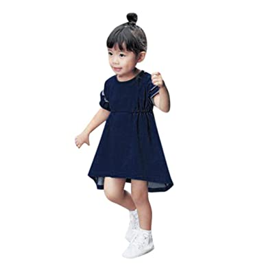 07727fbcc7a7c Turkey for 1-4 Years Old, Baby Girls Infant Kids Solid Denim Dress ...
