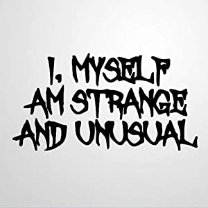 I, Myself Am Strange and Unusual Wall Sticker,The Banana Boat Song Vinyl Wall Decal,Decor for Windows,Living Room,Bumper,Laptop,Tumbler,Bathroom Home Decor