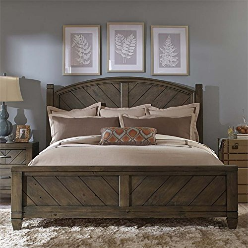 Bedroom Country Poster Bed - Liberty Furniture Modern Country Bedroom King Poster Bed, Harvest Brown Finish