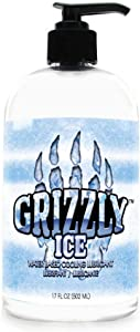 Nature Lovin' Grizzly Ice Water Based Cooling Personal Lubricant, 17 oz Glycerin and Paraben Free