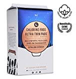 L. Organic Cotton & Chlorine-Free Pads, Extra-Long Overnight Absorbency with Ultra Thin Design, 48 Count