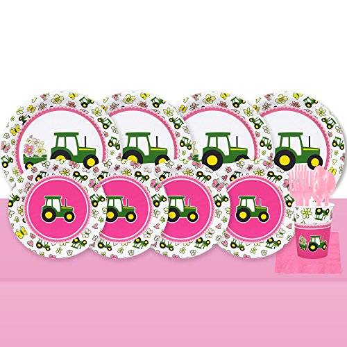 BirthdayExpress John Deere Pink 32 Guest Party Pack -