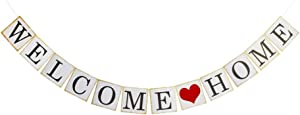 Welcome Home Banner for Home Party Sign Decorations, Family Theme Party Supplies
