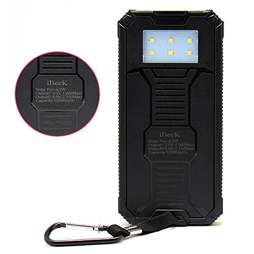 Solar Charger Solar External Battery Pack Ibeek Portable