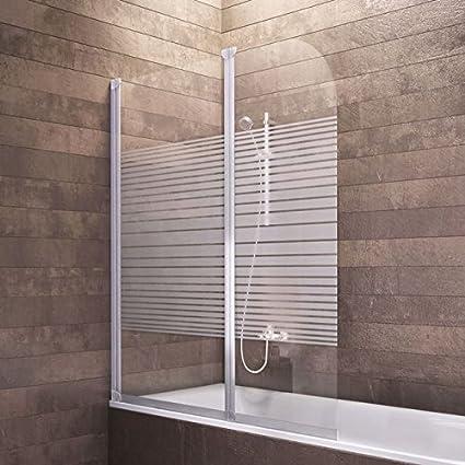 Mampara de bañera Cristal (2 piezas, 140 x 114 cm Colonia: Amazon ...