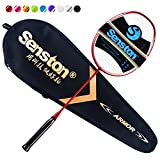 Senston N80 Graphite Single High-Grade Badminton Racquet,Carbon Fiber Badminton Racket,Including Badminton Bag