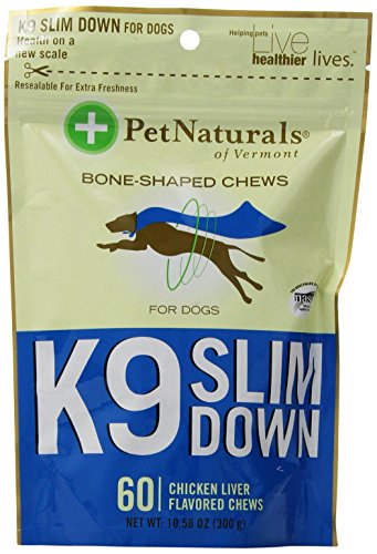Pet Naturals of Vermont K9 Slim Down Bone Shaped Chews, 60-Count, 10.58-Ounce
