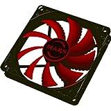Tacens MF12 - Ventilador para caja de ordenador gaming, color negro y rojo
