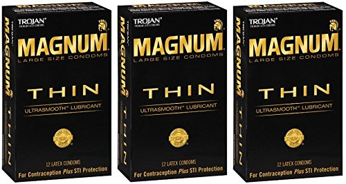 Trojan Magnum WZOVSj Thin 12 Count (Pack of 3) by Trojan