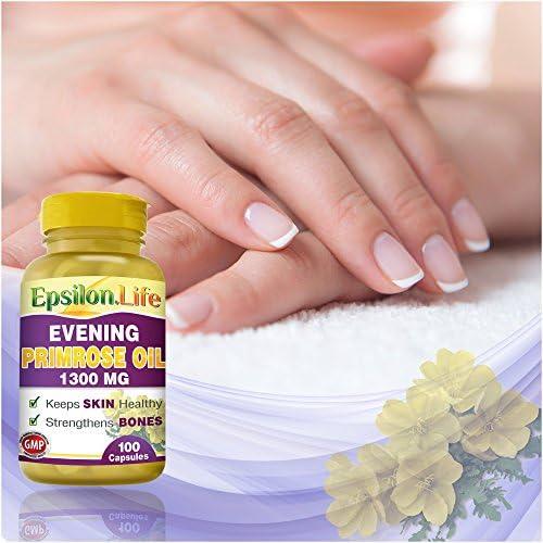 Aceite de Onagra 1300mg de Epsilon (100 Capsulas): Amazon.es: Salud y cuidado personal