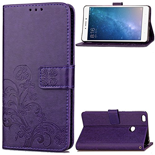Xiaomi Mi MAX 2 Case,Gift_Source [Card Slot] Flip Wallet Case Premium Soft PU Leather Folio Protective Shell Vintage Emboss Flower Cover Stand Feature & Wrist Strap for Xiaomi Mi MAX 2 (6.44