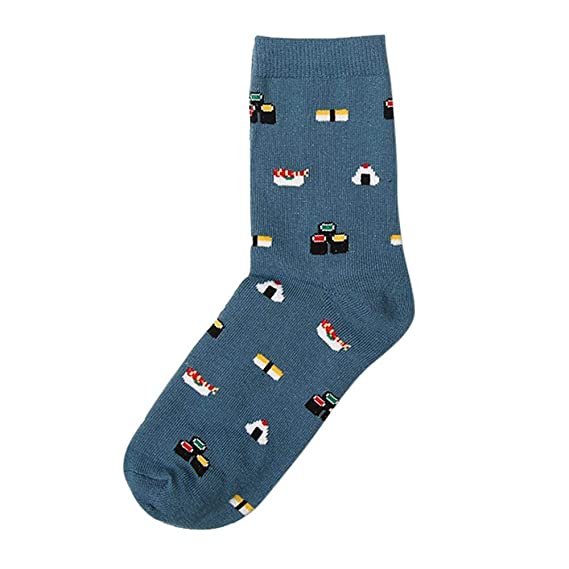 VJGOAL Moda casual para mujer Animal Gato de dibujos animados Imprimir Calcetines cómodos de algodón transpirable(Un tamaño, Azul marino): Amazon.es: Ropa y ...
