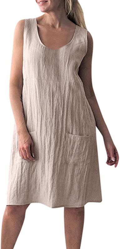Vestidos Mujer Casual Verano Sexys Y Elegantes Moda Bolsillo de ...
