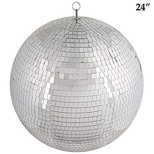 Mr Dj MB24 MIRROR BALL Large Mirror Glass Disco Ball DJ Dance Home Party Bands Club Stage Lighting Durable Disco Ball Light by Mr. Dj USA