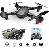 OKPOW 2MP 120° Wide Angle Selfie Drones 2.4G Foldable RC Quadcopter Wifi FPV Drone Altitude Hold 3D Flips Rolls 6-Axis Gyro Gravity Sensor RTF RC Drones ¡