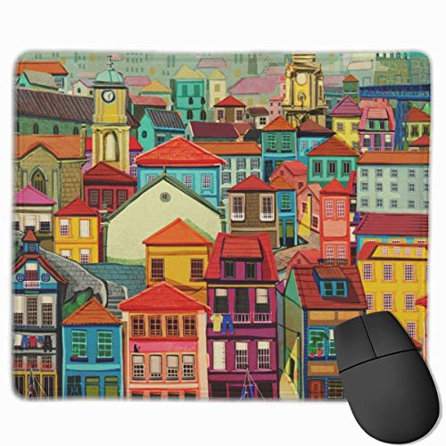 (Porto Mouse Pad Non-Slip Rubber Base Gaming Mousepad for Office Computer Laptop)