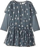 Stella McCartney Kids Baby Girls' Mouse Star Print Tulle Dress, Blue, 18M