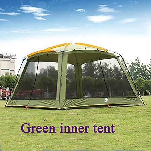 ZEIYUQI Tienda De Campaña Familiar 8-15 Personas/Plegable Portátil Tienda De Playa/con Bolsa De Transporte Mosquitera Protección Solar,Azul
