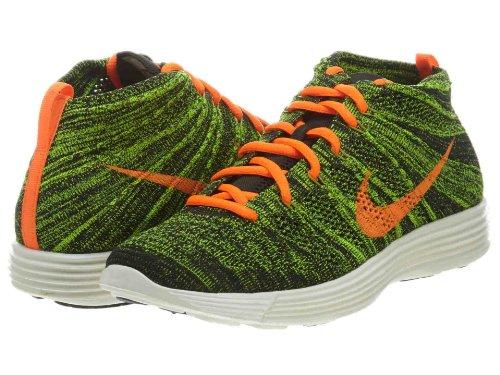 Nike Men's Lunar Flyknit Chukka Black/Orange/Sq/Prcht Gld Lifestyle Shoe 11