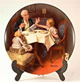 c1985 Knowles Norman Rockwell plate - The Gourmet from the Rockwell Heritage Collection - CP1096