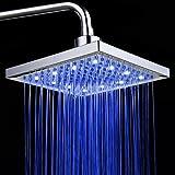 Kyпить PowerLead SH001 Bathroom Temperature Sensor 3 Color-Changing LED Overhead Shower Head 3 Color-Changing LED Overhead Shower Head на Amazon.com