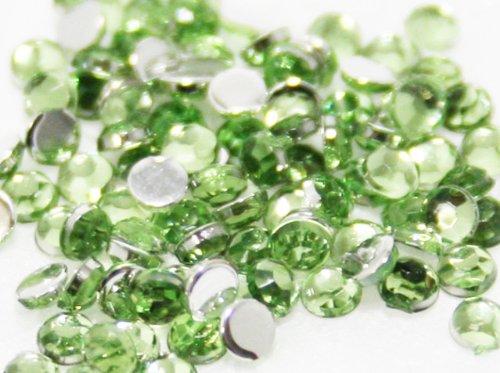 Zinkcolor Nailart Acrylic Rhinestone Light Green 1.5Mm 100Pc Embellishment -