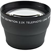 Prettyia 58mm 2.2X Magnification Telephoto Tele Converter Lens with Caps for Camera