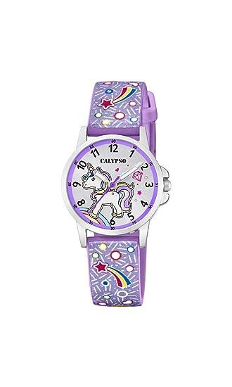 Calypso Watches Reloj Analógico para Unisex Niños de Cuarzo con Correa en Plástico K5776/6: Amazon.es: Relojes