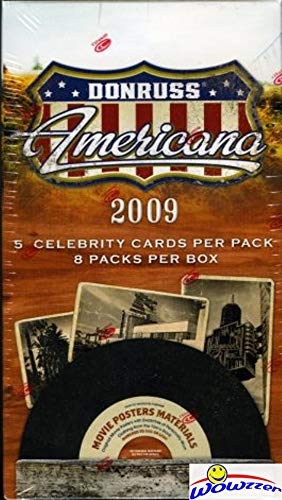 2009 Donruss Americana Factory Sealed Blaster Box with Autograph or Memorabilia! Look for Autos of Burt Reynolds, Patrick Stewart, Lucille Ball, Jimmy Stewart, Carlie Chaplin & More! WOWZZER!