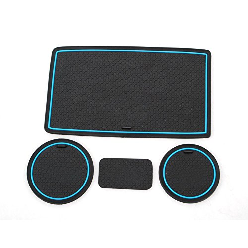 V-kick 12 Pad (UltimaFio Rubber Car Door Gate Slot Pads Non-Slip Car Water Cup Mats Cover Decoration 3colors for 2008-2015 Jeep Wrangler [Blue])