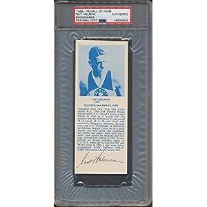 1968 74 Hof Bookmarks Nat Holman PSA/DNA Certified Certified Certified Autographed *3982