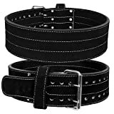 HHR Power Lifting Belt Suede Leather Double Prong Power Belt Gym Bodybuilding 4 Inches 10 MM Thick Weight Lifting Weightlifting Belt for Men & Women Optimal for Powerlifting!!!! For Sale