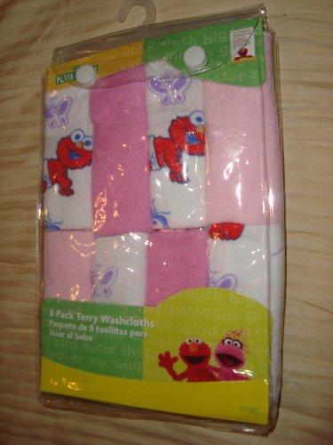(Sesame Street Terry Washcloth 8 Pack)