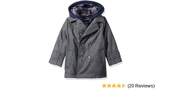 Qinni-shop Baby Toddler Boys Girls Winter Sherpa Lining Hooded Coat Outwear Jacket
