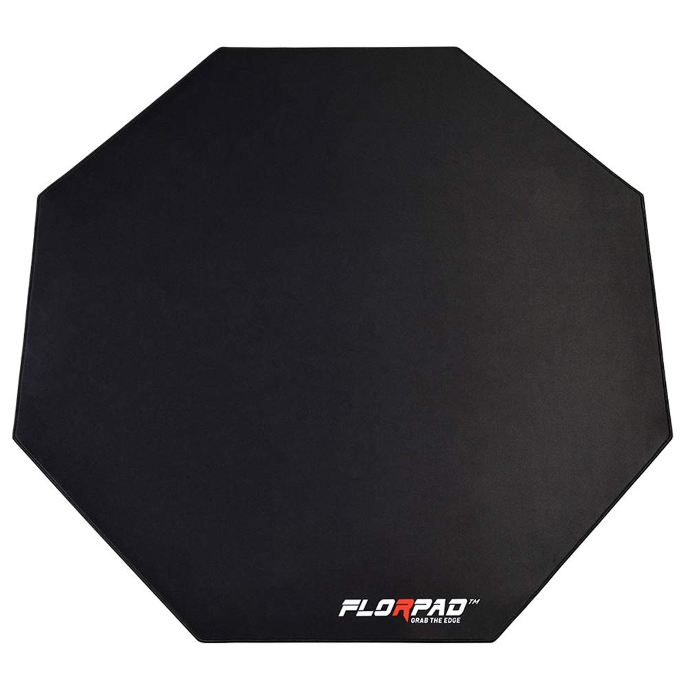 Florpad Space Gray Gaming Office Chair Mat | Protects All Floors | Liquid Resistant | Noise Cancelling | Smooth Surface 45'' x 45'' by FLORPAD GRAB THE EDGE