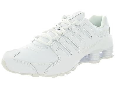 1944c492ff6 ... top quality nike shox nz men us 8.5 white running shoe 2c66d 77757