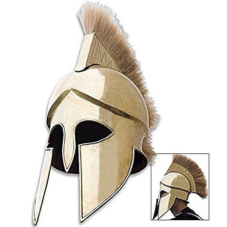 NAUTICALMART Spartan Grecian Brass Helmet Brass One -