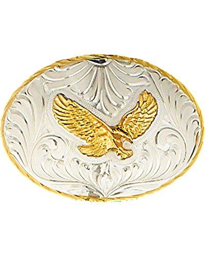 WESTERN EXPRESS Men's Silver German Eagle Belt Buckle Silver One ()
