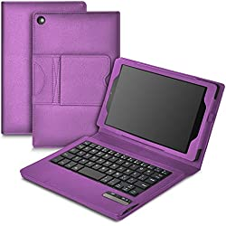 Fire HD 8 2016 keyboard case,KuGi Fire HD 8 (2016/2017released) case with keyboard,Ultra Lightweight Detachable Bluetooth Keyboard Stand Case for All-New Fire HD 8 /New Fire HD 8 2017 tablet(Purple)