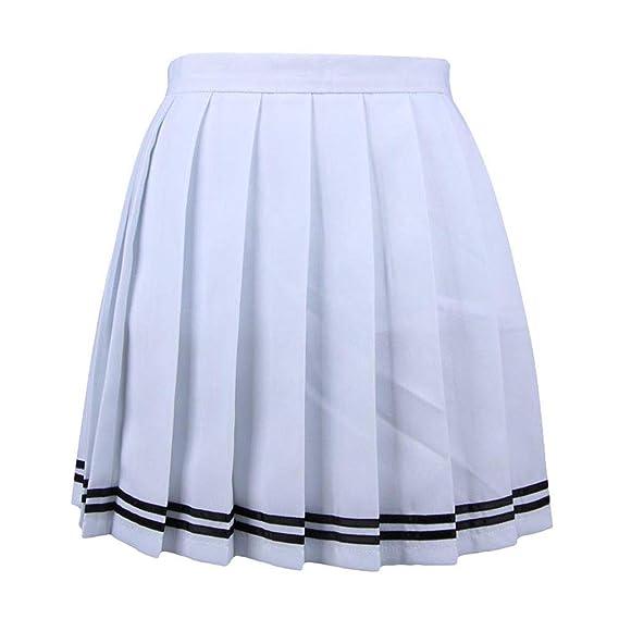 Mujeres Cintura Alta Falda De Tenis Elasticidad Falda Plisada ...