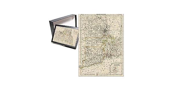 Amazon.com: Media Storehouse 252 Piece Puzzle of Map of Rhode Island ...