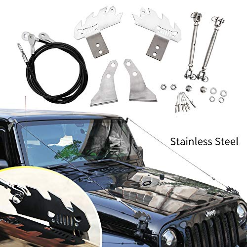 Price comparison product image Limb Riser Kit fit for JK Jeep Wrangler 2007-2018 Through the Jungle Protector Obstacle Eliminate Rope Stainless Steel