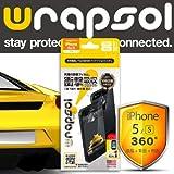 Wrapsol ラプソル iPhone5s/5対応【ULTRA Screen Protector】【360°保護タイプ】 保護用透明クリアフィルム・ フロント/バック/サイド 360°フィルム・落下破損防止 WPIPSULTR-FB