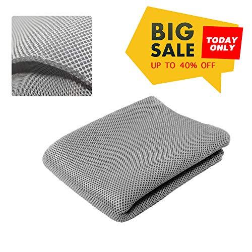 NOMACY Silver Gray Speaker Grill Cloth Stereo Mesh Fabric for Speaker Repair - 140x50cm