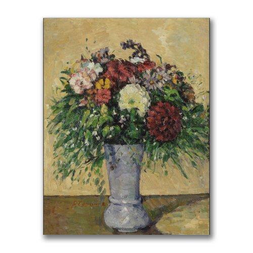 Trademark Fine Art Bouquet Of Flowers In A Vase by Paul Cezanne, 24x32-Inch Canvas Wall Art Cezanne Canvas Vase